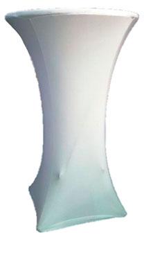 Чехол на коктейльный стол, Ø700, белый стретч