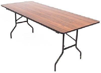 Стол прямоугольный, 120х60 см, коричневый