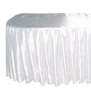 Юбка фуршетная, 5400х720, белая атлас